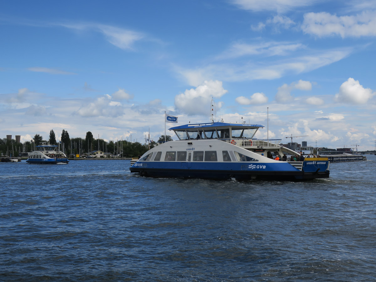 ferries on the IJ