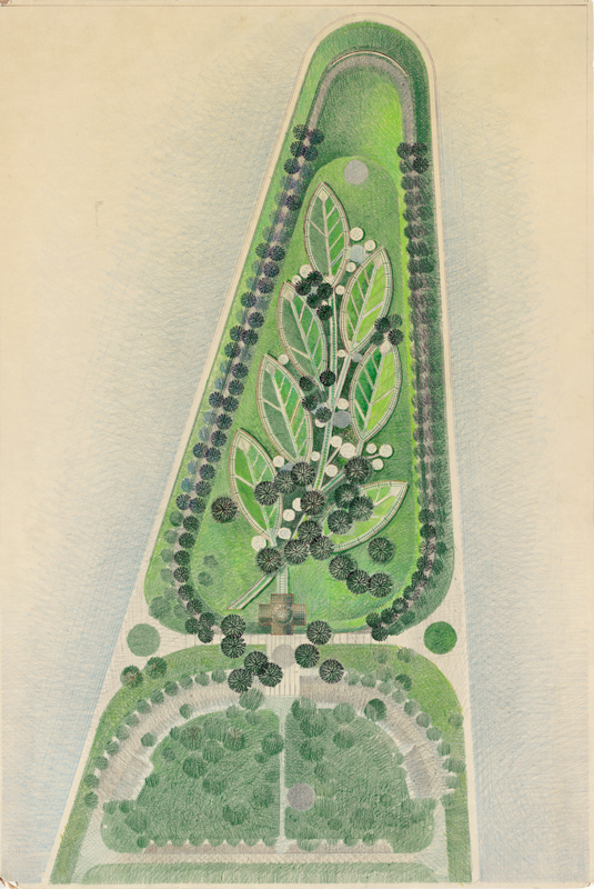 Plan for the National Peace Garden