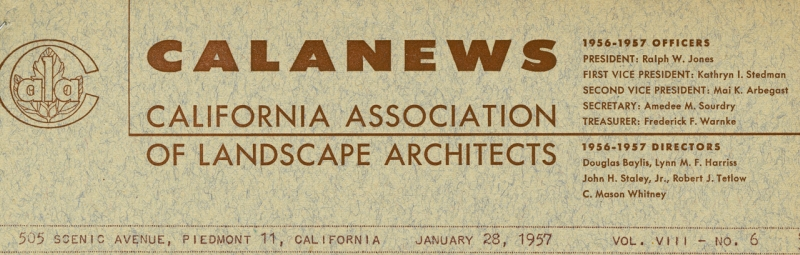California association of landscape architects ced archives for Society of landscape architects